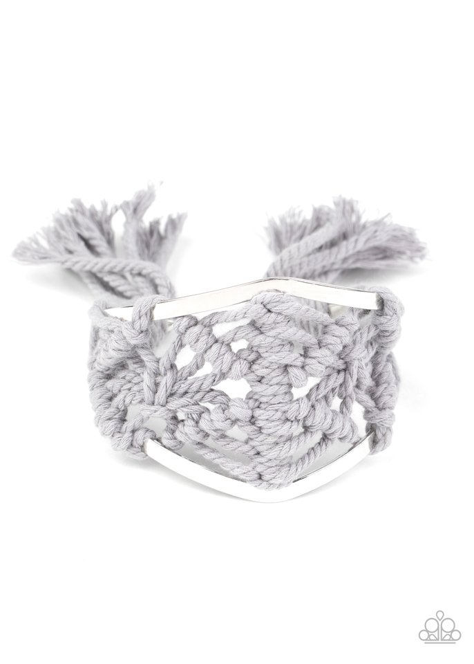 Macrame Mode - Silver - Paparazzi Bracelet Image
