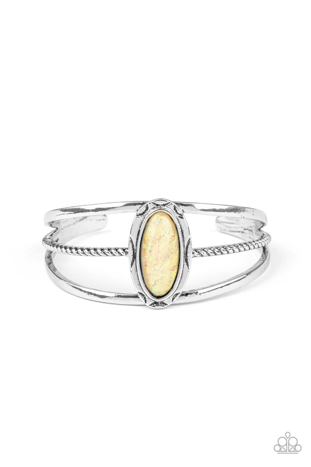 Stone Sahara - Yellow - Paparazzi Bracelet Image
