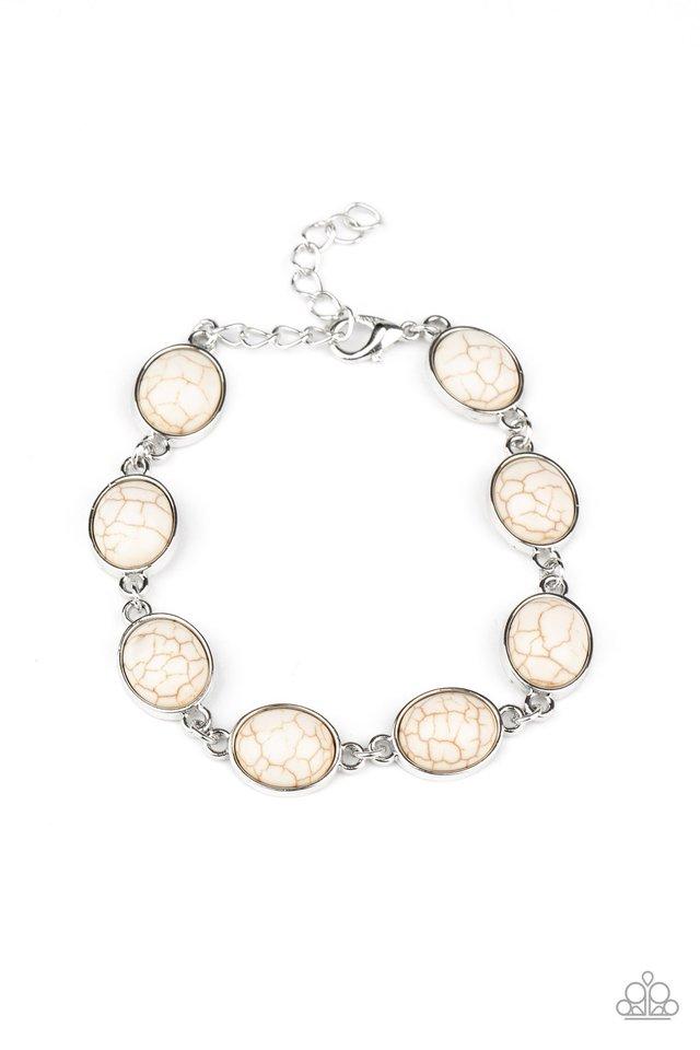 Nice Stonework - White - Paparazzi Bracelet Image