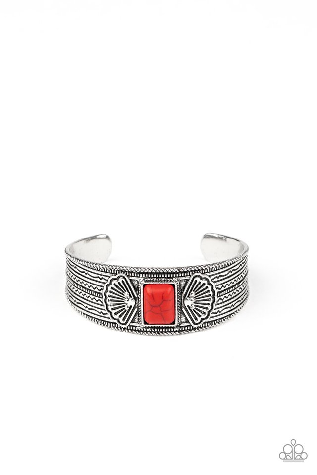 Ocean Mist - Red - Paparazzi Bracelet Image