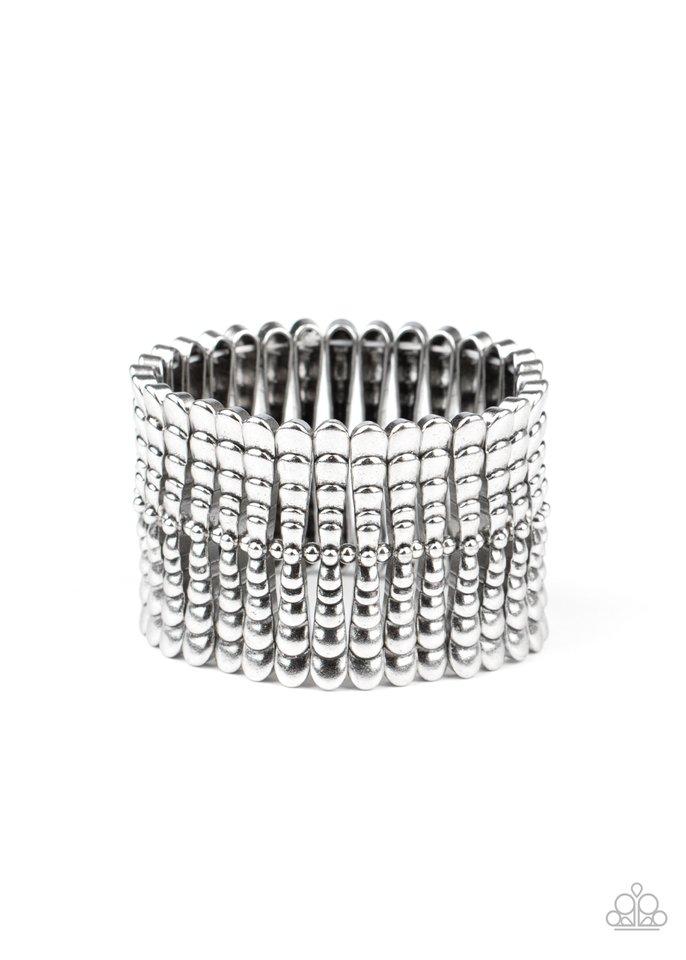 Level The Field - Silver - Paparazzi Bracelet Image