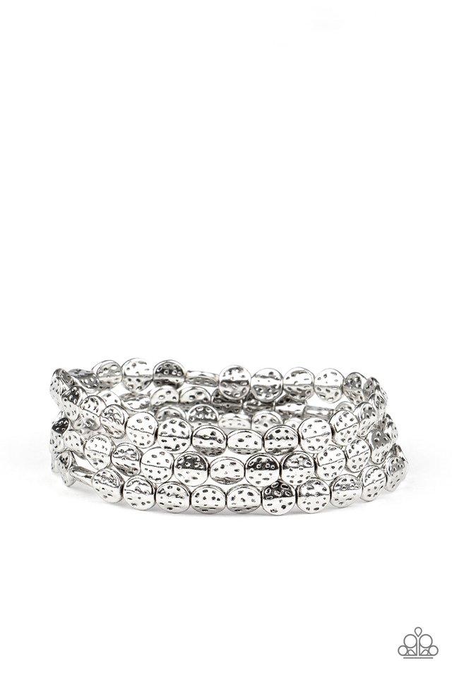 Hammered Heirloom - Silver - Paparazzi Bracelet Image
