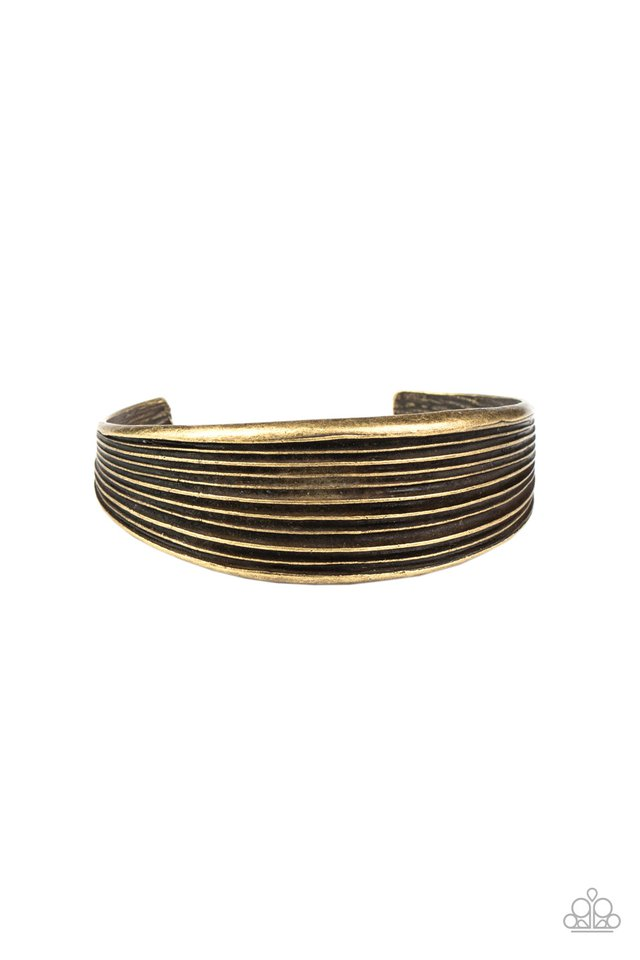 Off The Cuff Couture - Brass - Paparazzi Bracelet Image