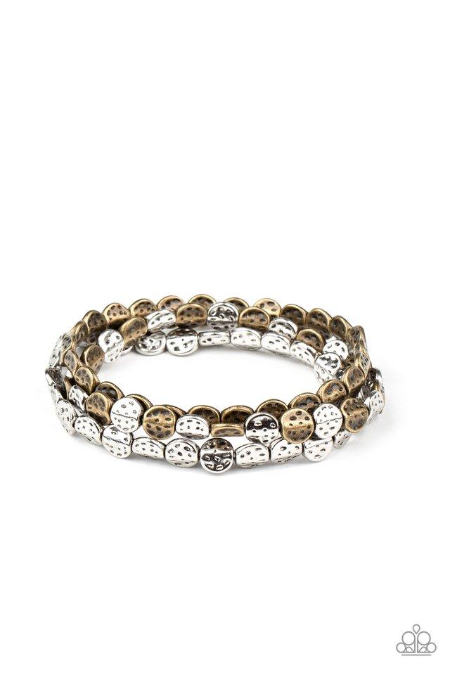 Hammered Heirloom - Multi - Paparazzi Bracelet Image