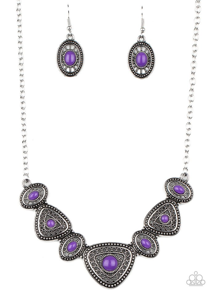 Totally TERRA-torial - Purple - Paparazzi Necklace Image