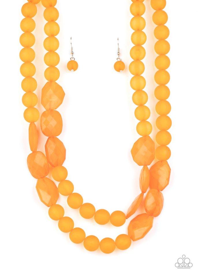 Arctic Art - Orange - Paparazzi Necklace Image