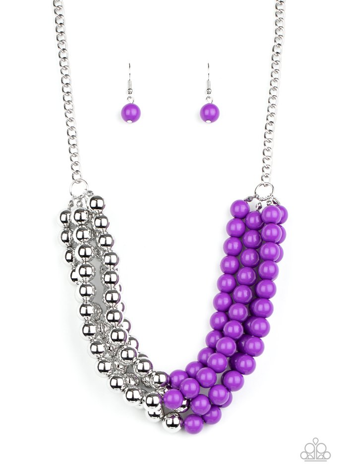 Layer After Layer - Purple - Paparazzi Necklace Image