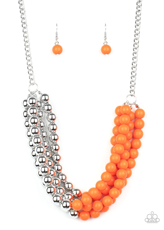 Layer After Layer - Orange - Paparazzi Necklace Image
