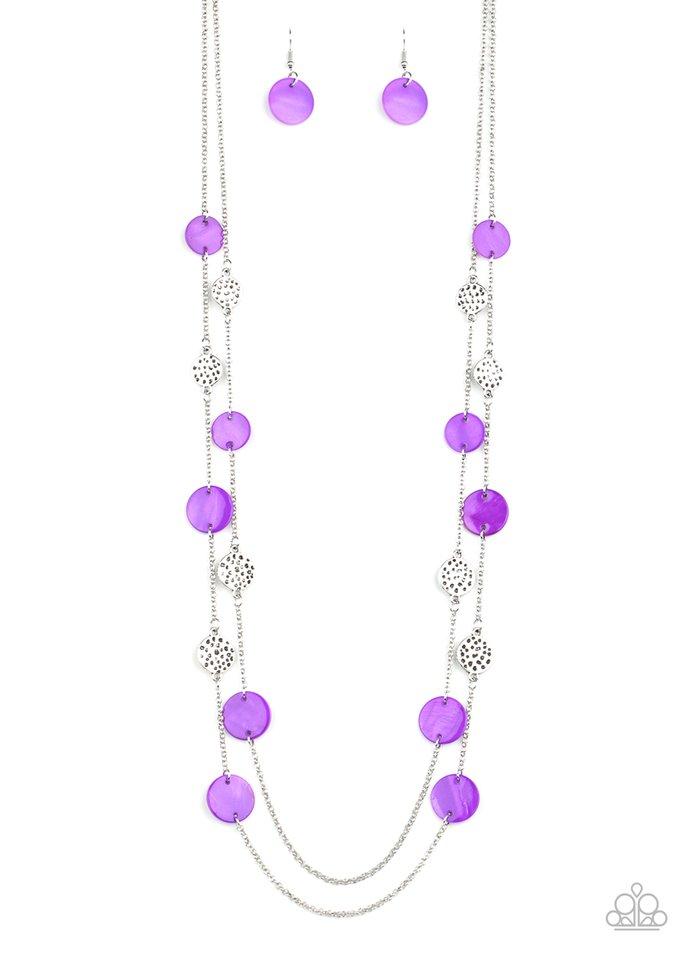 Ocean Soul - Purple - Paparazzi Necklace Image