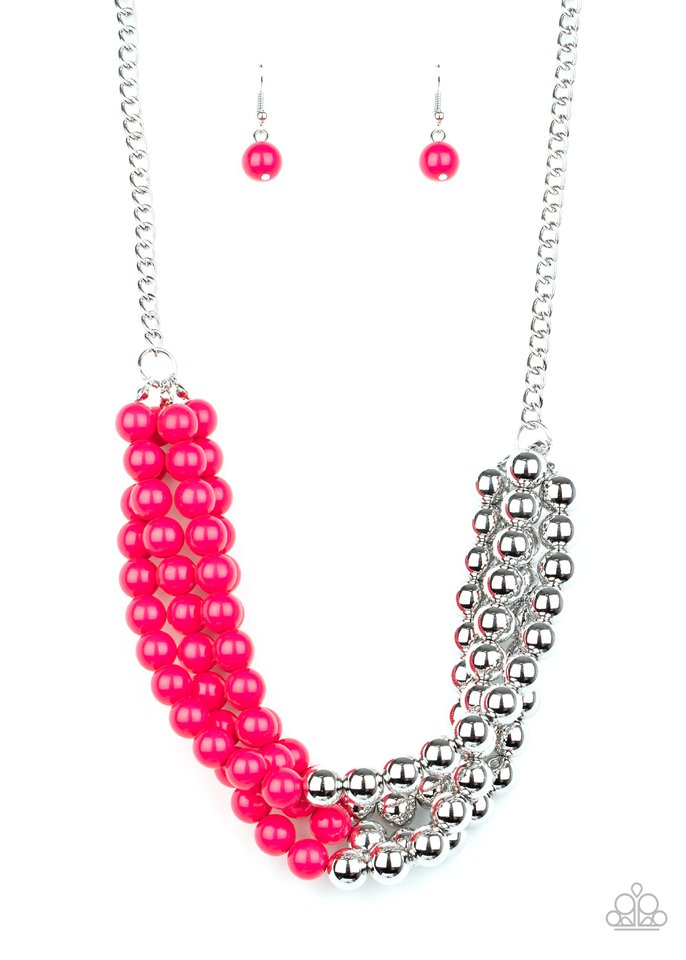 Layer After Layer - Pink - Paparazzi Necklace Image