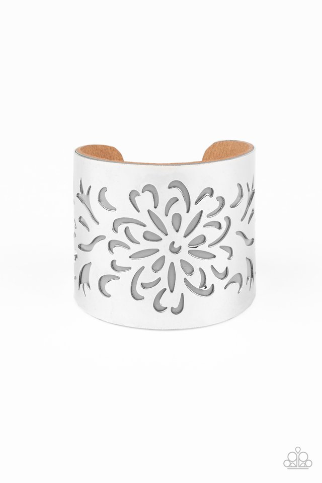 Get Your Bloom On - Silver - Paparazzi Bracelet Image