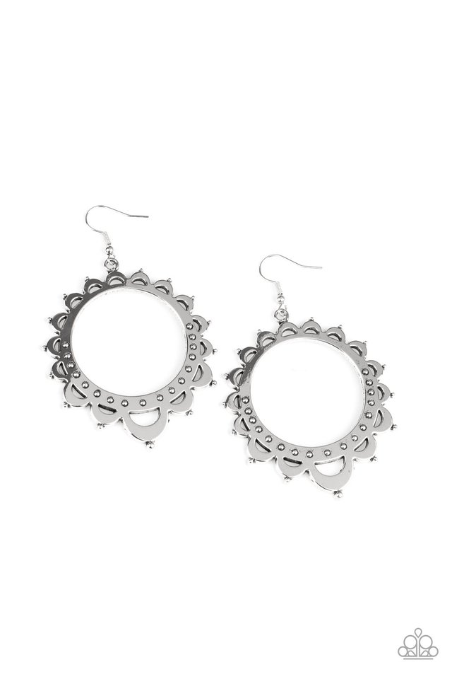 Casually Capricious - Silver - Paparazzi Earring Image