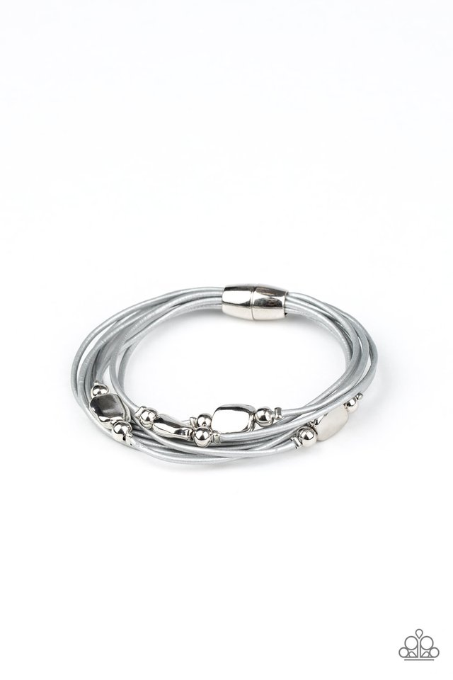 Raw Edge - Silver - Paparazzi Bracelet Image