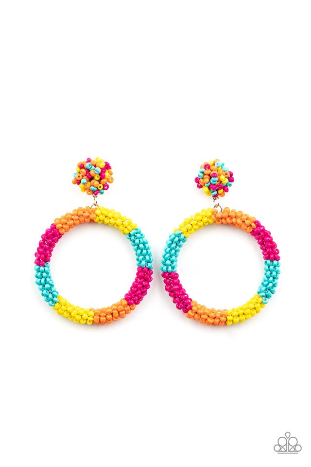 Be All You Can BEAD - Multi - Paparazzi Earring Image