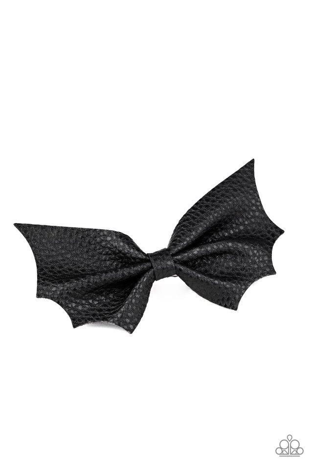 A Bit Batty - Black - Paparazzi Hair Accessories Image
