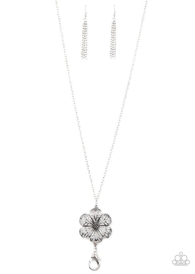 Ready, Set, GROW! - Silver - Paparazzi Necklace Image