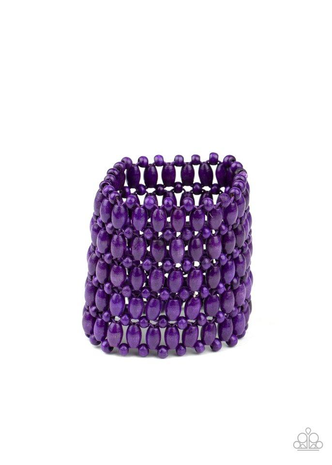 Way Down In Kokomo - Purple - Paparazzi Bracelet Image