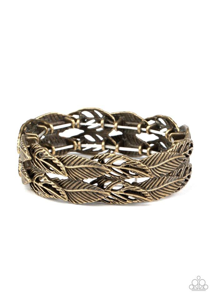 Its Five o FLOCK Somewhere - Brass - Paparazzi Bracelet Image