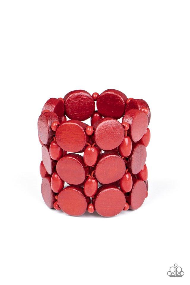Cruising Coronado - Red - Paparazzi Bracelet Image