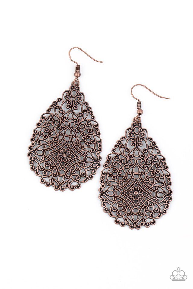 Napa Valley Vintage - Copper - Paparazzi Earring Image