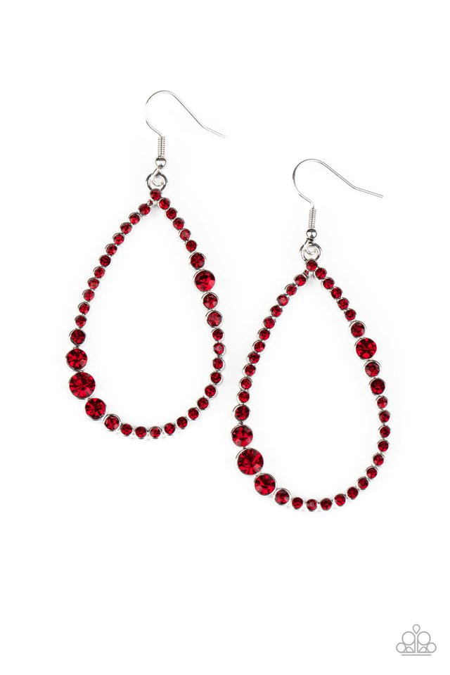 Diva Dimension - Red - Paparazzi Earring Image