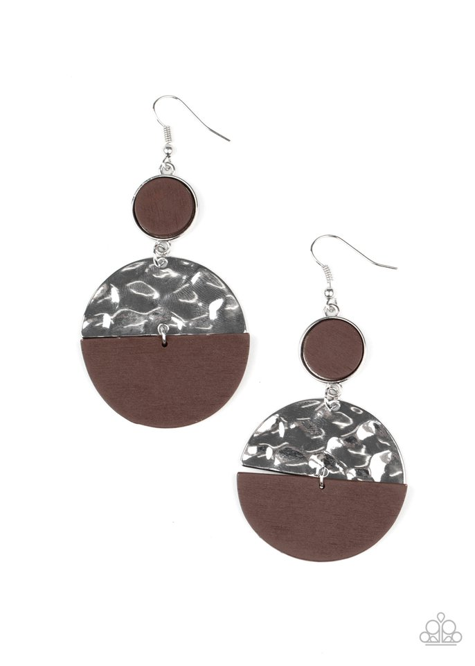 Natural Element - Brown - Paparazzi Earring Image