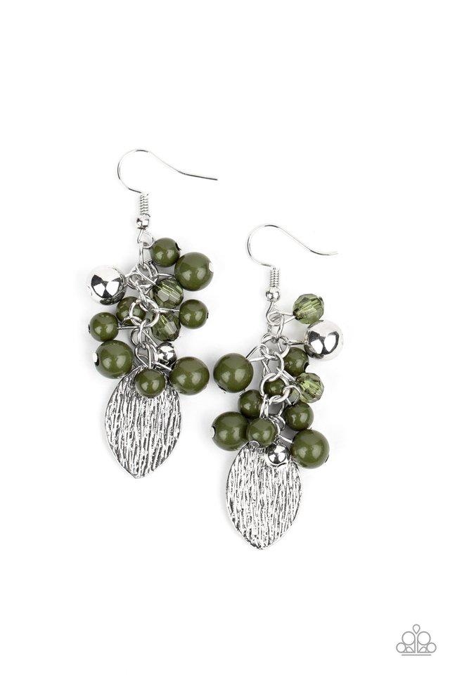 Fruity Finesse - Green - Paparazzi Earring Image
