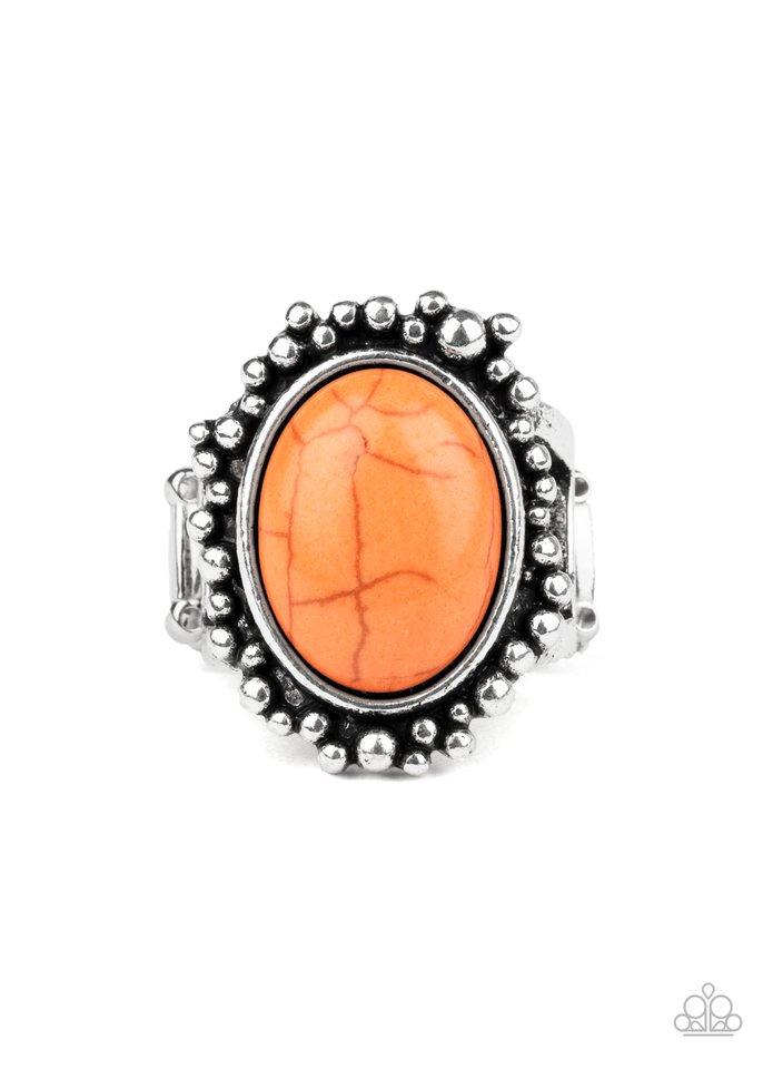 Desert Mine - Orange - Paparazzi Ring Image