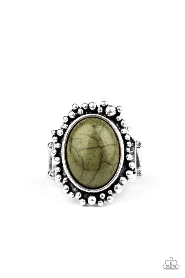 Desert Mine - Green - Paparazzi Ring Image