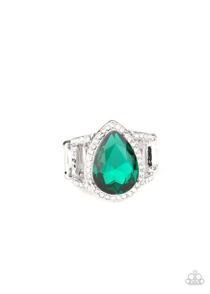BLINGing Down The House - Green - Paparazzi Ring Image
