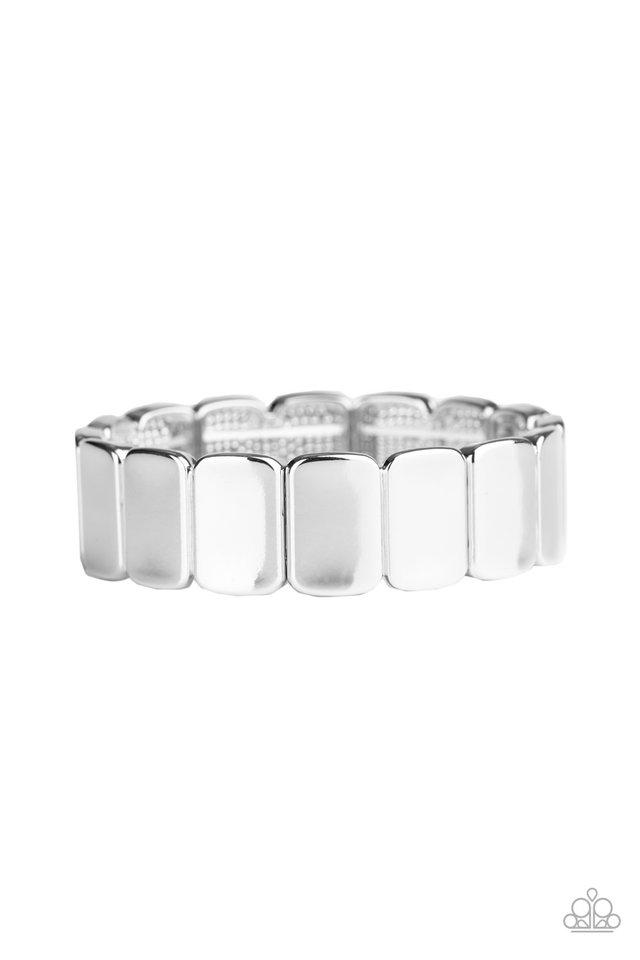 Retro Effect - Silver - Paparazzi Bracelet Image