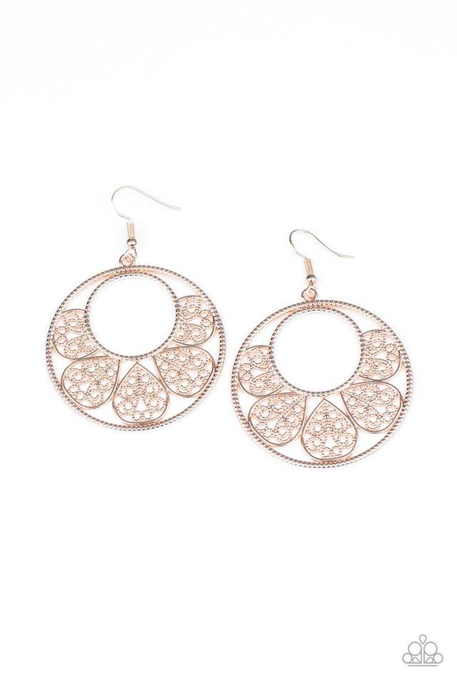 Petal Promenade - Rose Gold - Paparazzi Earring Image
