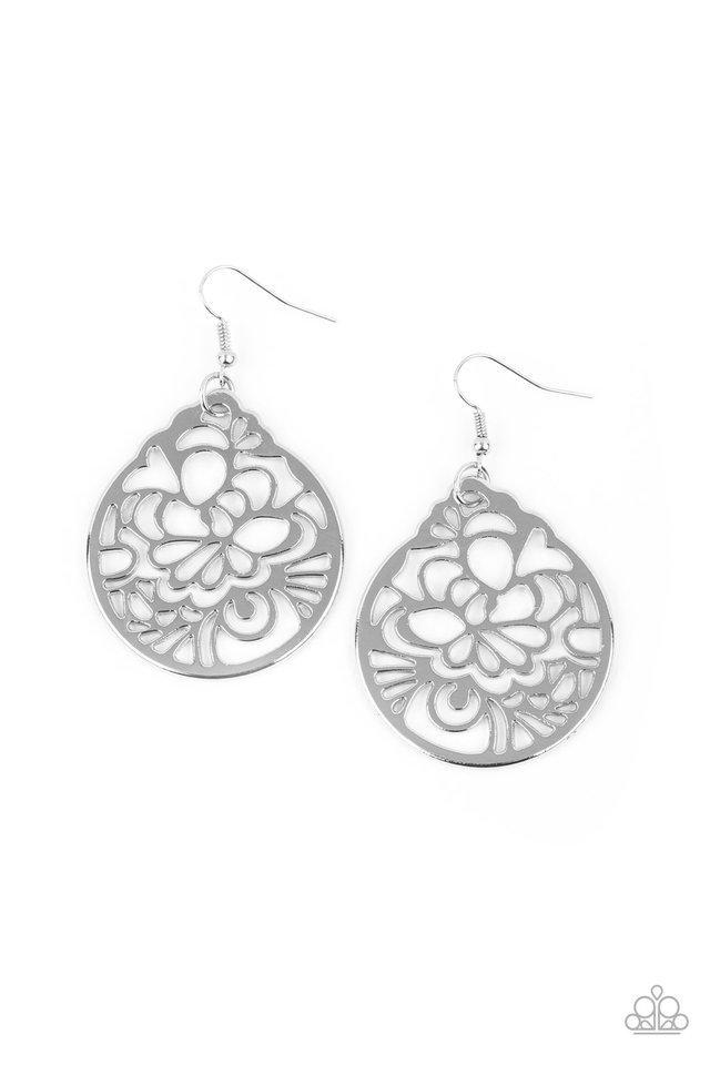 Garden Mosaic - Silver - Paparazzi Earring Image