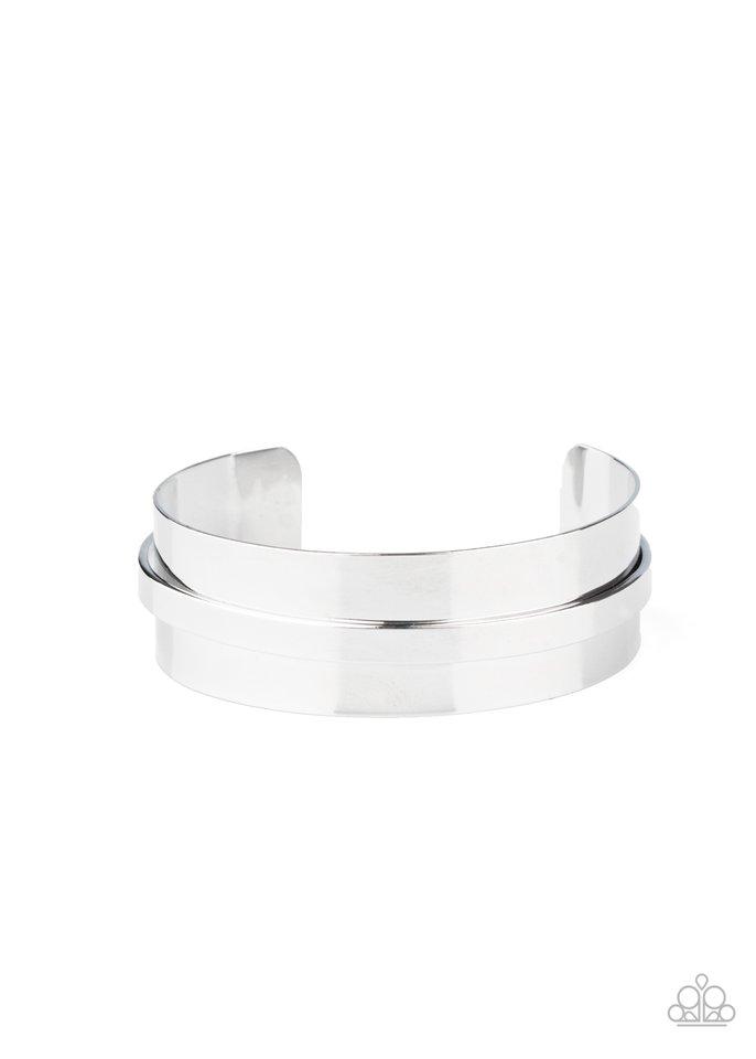 A HAUTE Number - Silver - Paparazzi Bracelet Image