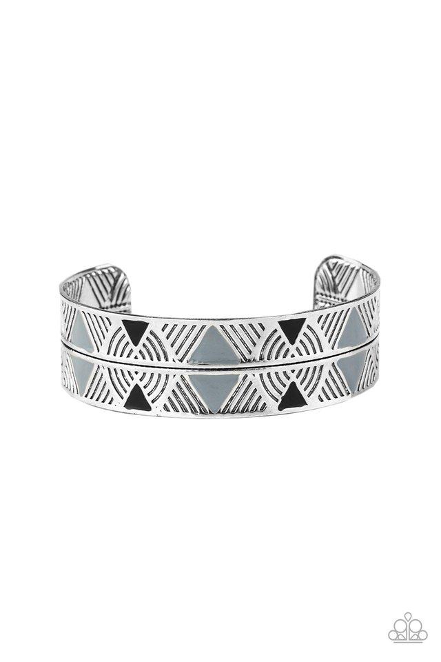 Hidden Glyphs - Silver - Paparazzi Bracelet Image