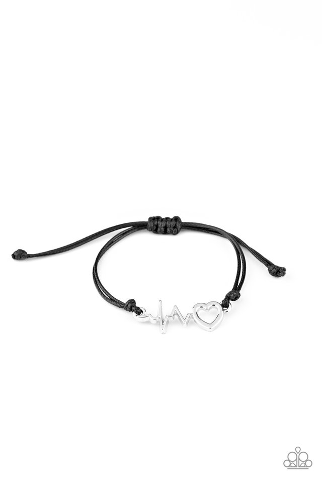 Cardiac Couture - Black - Paparazzi Bracelet Image
