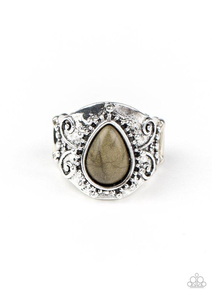 Desert Dream - Green - Paparazzi Ring Image