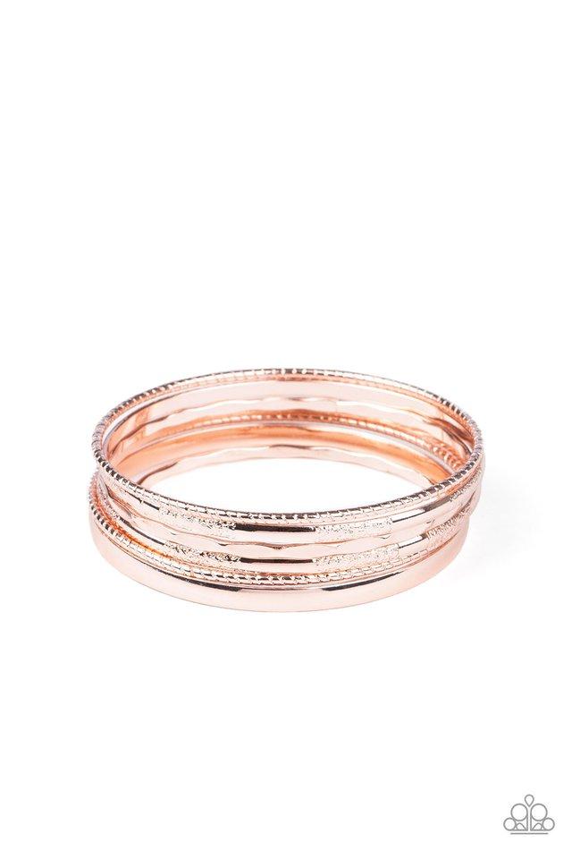 Top Of The Heap - Rose Gold - Paparazzi Bracelet Image