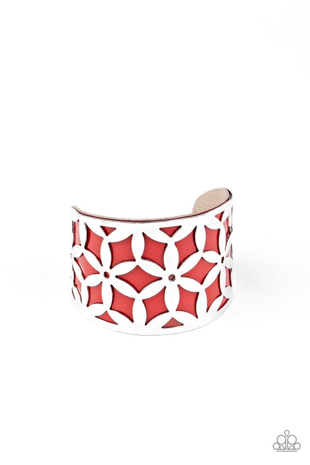 Garden Fiesta - Red - Paparazzi Bracelet Image