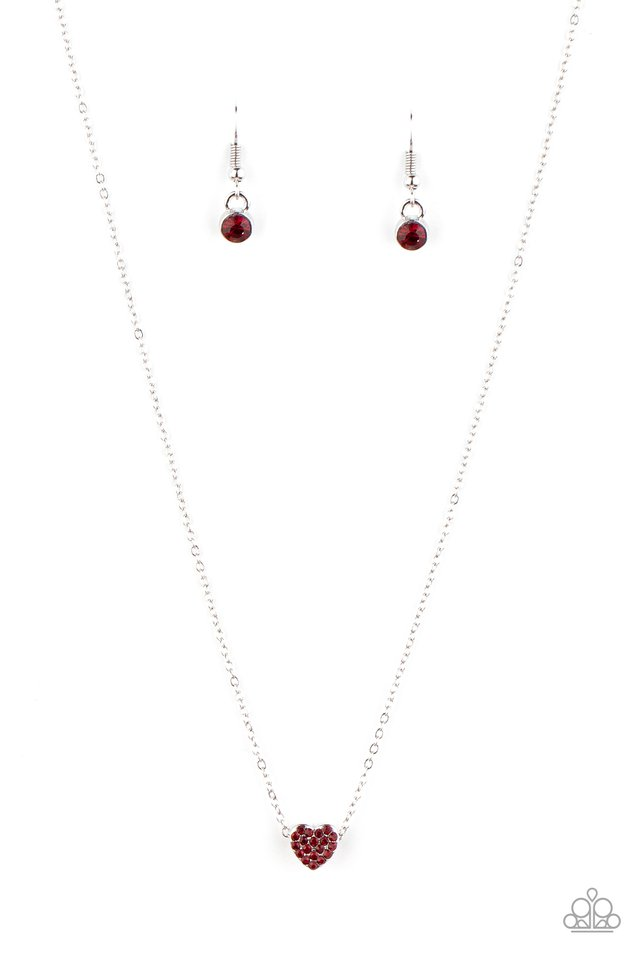 Hit Em Where It HEARTS - Red - Paparazzi Necklace Image