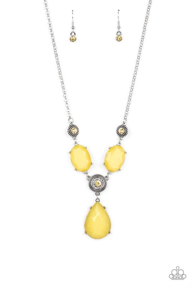 Heirloom Hideaway - Yellow - Paparazzi Necklace Image