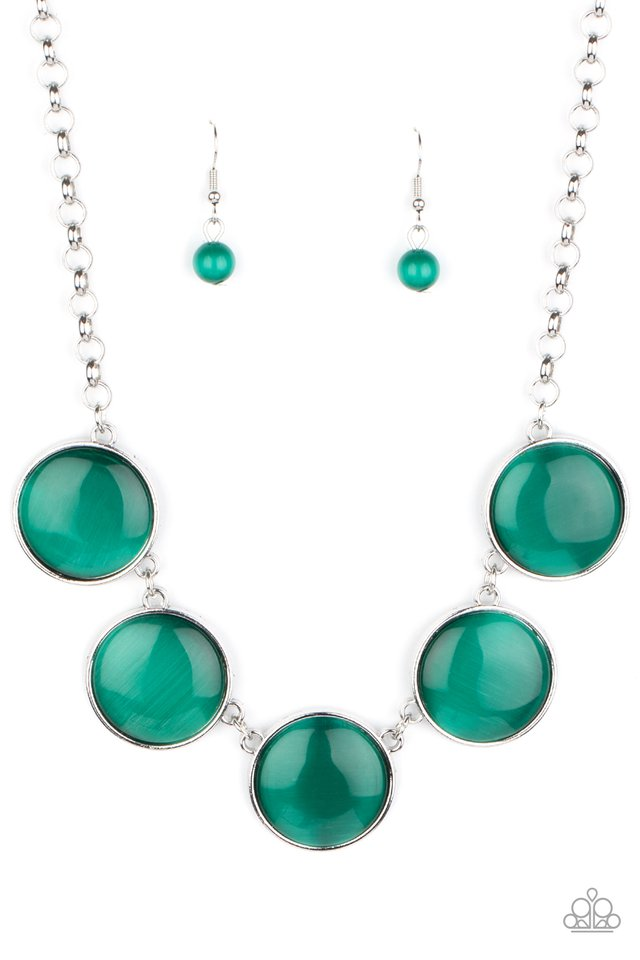 Ethereal Escape - Green - Paparazzi Necklace Image