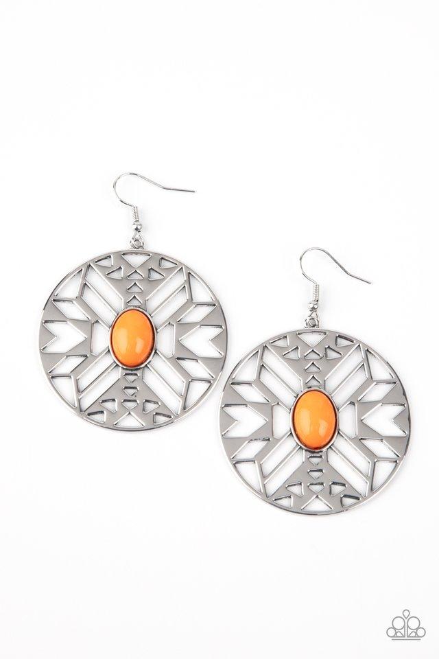 Southwest Walkabout - Orange - Paparazzi Earring Image