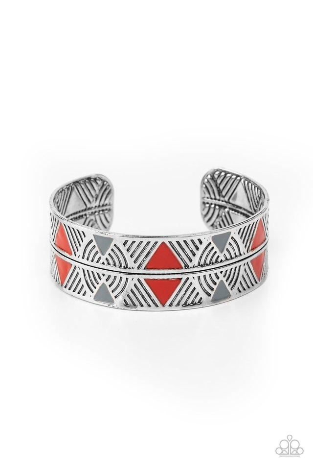 Hidden Glyphs - Red - Paparazzi Bracelet Image