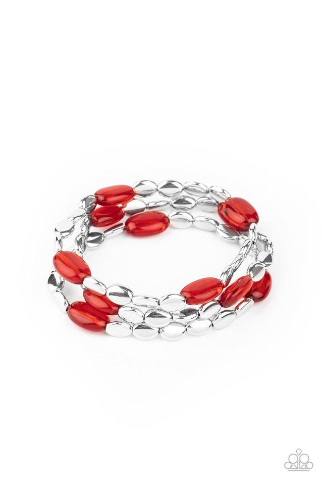 Sorry to Burst Your BAUBLE - Red - Paparazzi Bracelet Image
