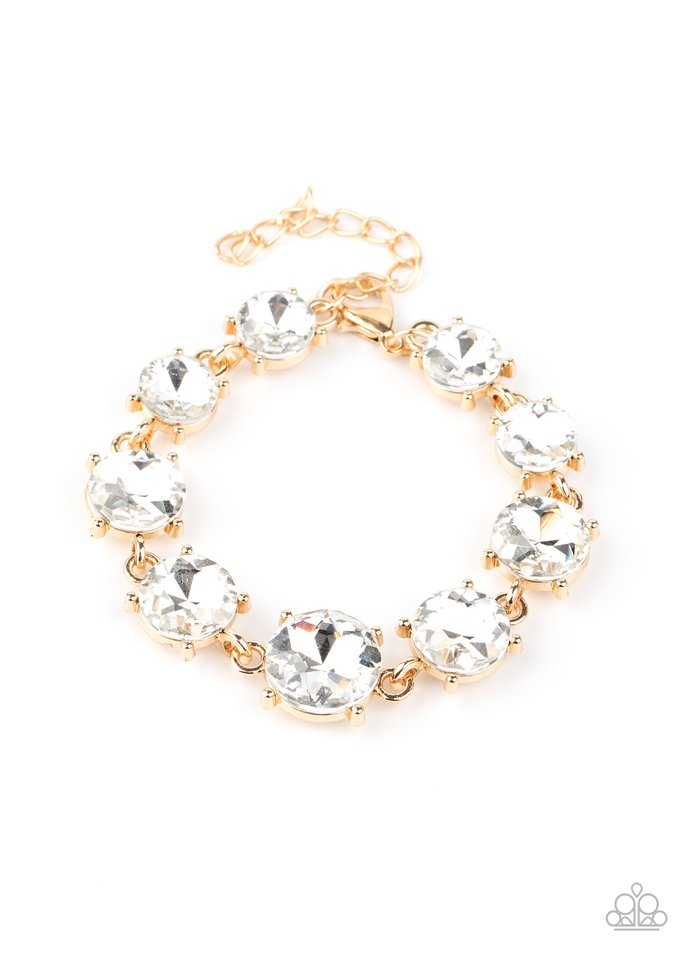 Cant Believe My ICE - Gold - Paparazzi Bracelet Image