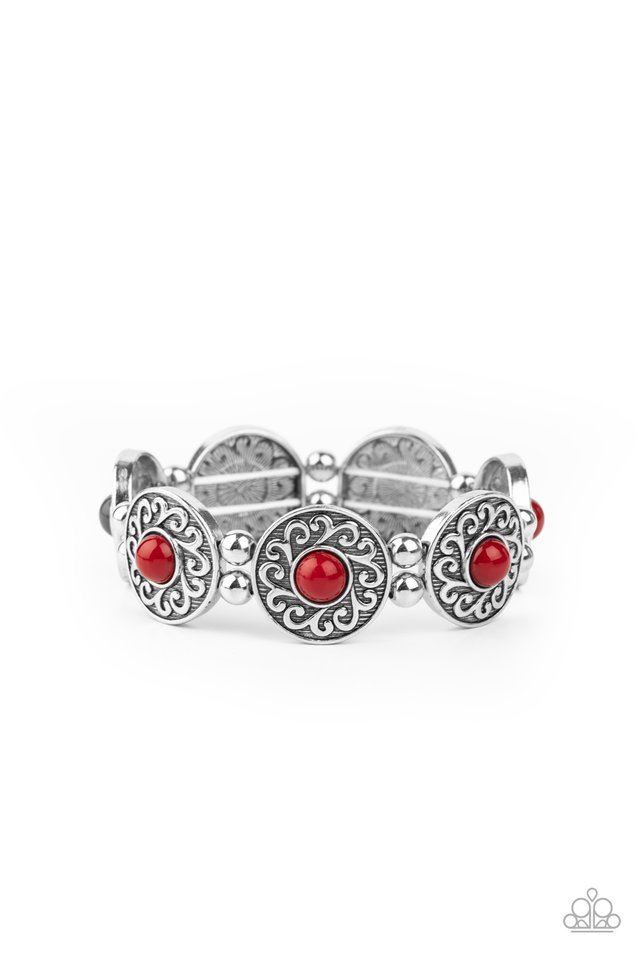 Flirty Finery - Red - Paparazzi Bracelet Image