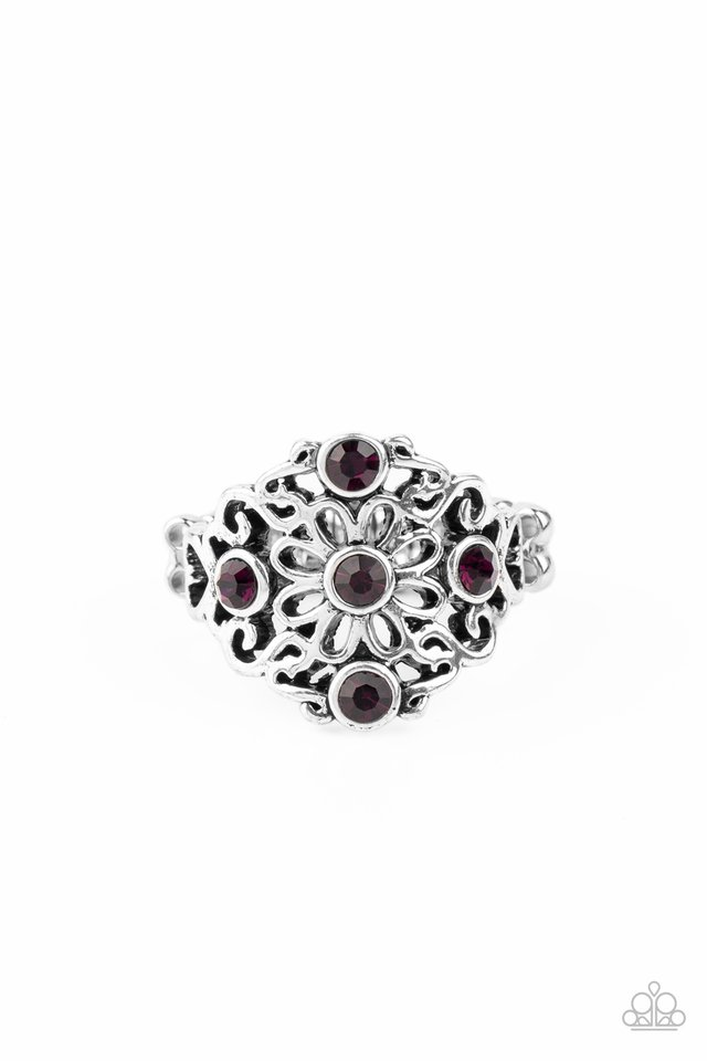 One DAISY At A Time - Purple - Paparazzi Ring Image