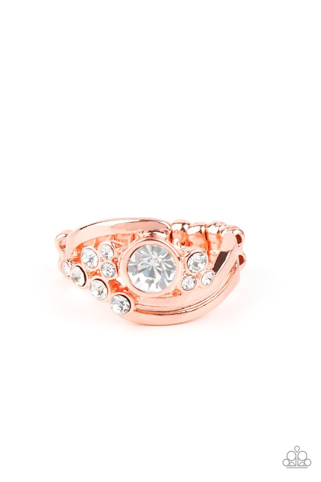 GLOW a Fuse - Copper - Paparazzi Ring Image