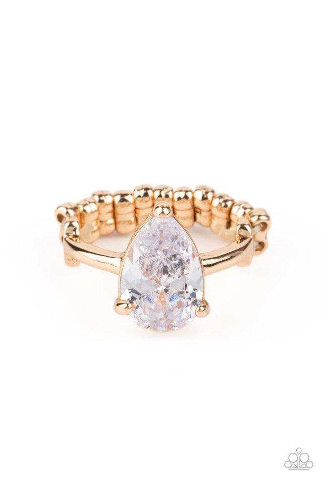Vintage Engagement - Gold - Paparazzi Ring Image